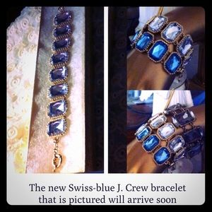 J. Crew Emerald-Cut Pale-Blue Crystal Bracelet